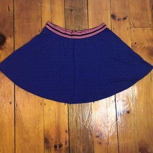 3/$27 Vera Wang Purple/Blue Skater Skirt
